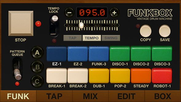 got drums funkbox emulates 14 vintage drum machines ios. Black Bedroom Furniture Sets. Home Design Ideas