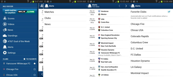 watch football game on android