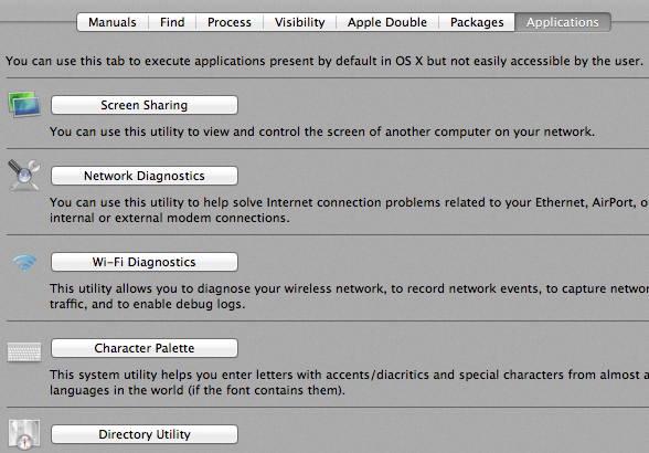 hidden settings on mac