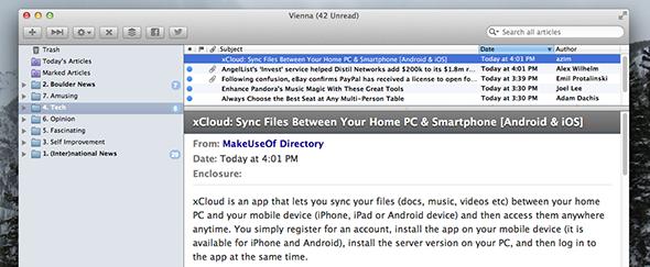 rss feed reader mac