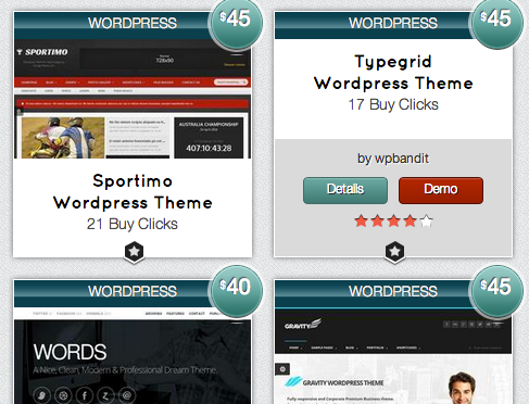 find wordpress themes
