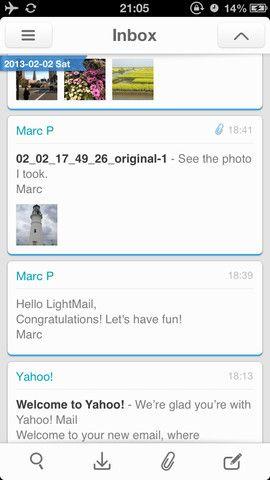 lightweight email app