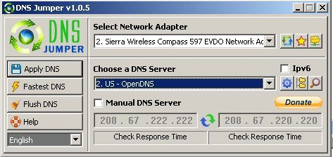 14   DNS Jumper   Speed Up Your Browsing & Access Blocked Websites