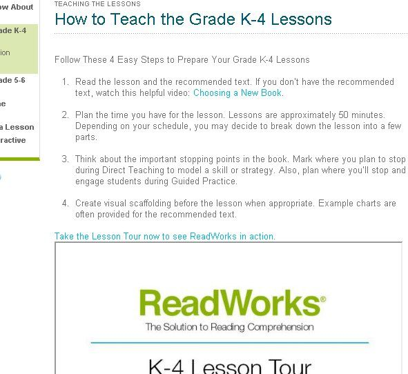 ReadWorks: Web-Based Reading Proficiency Solution For Teachers 225