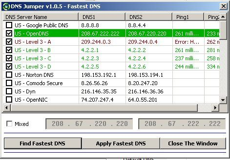 24   DNS Jumper   Speed Up Your Browsing & Access Blocked Websites