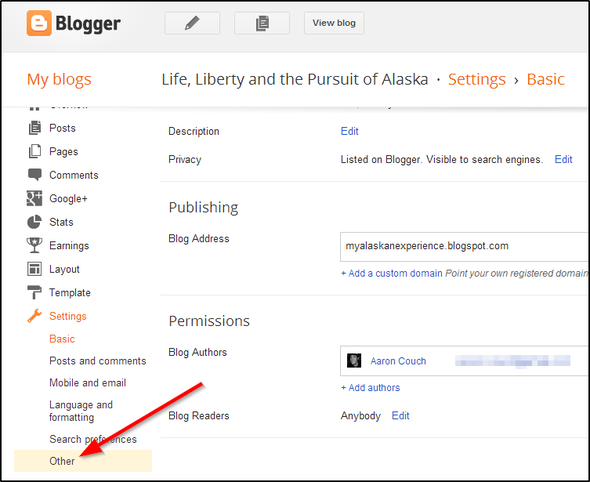 Your Last Minute Guide To Exporting Your Posterous Blog Before It Shuts Down Forever Blogger Sidebar Menu Other