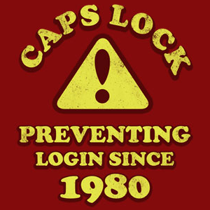 how to use caps lock