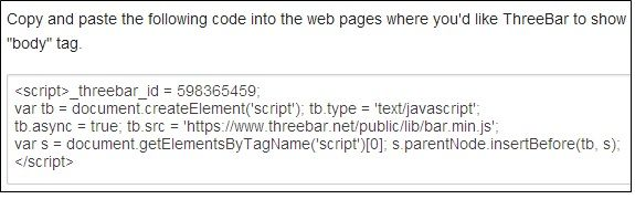 ThreeBar: Create a Bar To Be Placed On Top Of Your Webpage Code
