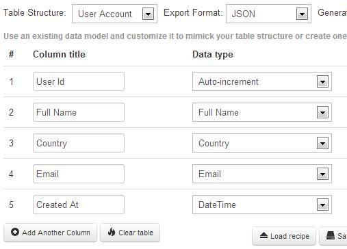 generate random database
