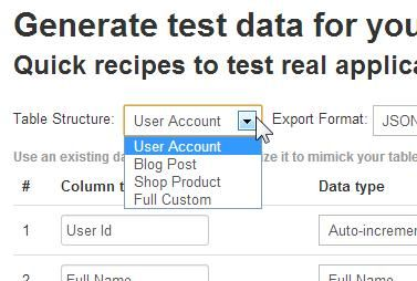 Database Test Data Generator: Generate Random Databases To