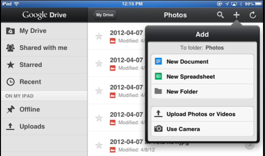 Access, Create, and Share Your Google Drive Documents On the iPad [iOS] Google Drive 5