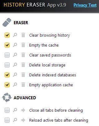 clear browsing history from chrome
