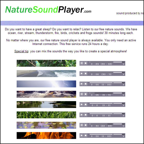 10 Websites That Will Help Drown Out The Noise So You Can Stay Focused NatureSoundPlayer
