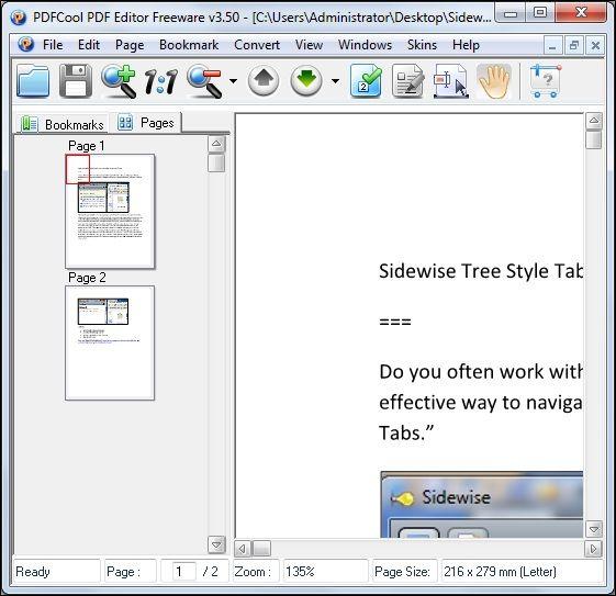 pdf editing freeware