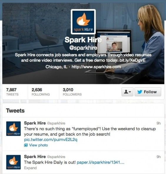 How To Use Twitter To Help You Find A Job  Sparkhire 564x590