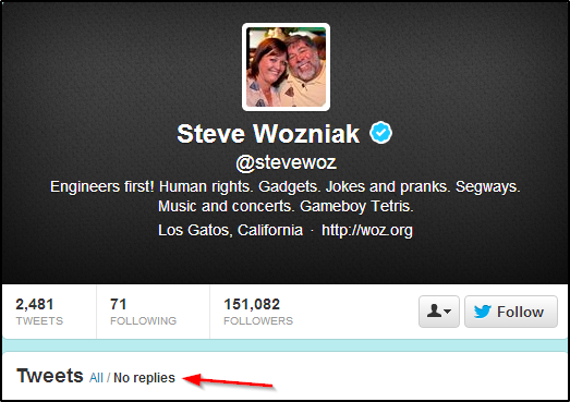 Losing Twitter Followers? 10 Dos & Don'ts To Keep Your Followers & Attract New Ones Steve Wozniak dont be a snob1