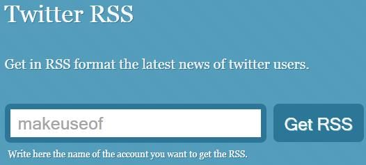 get rss feed of twitter user