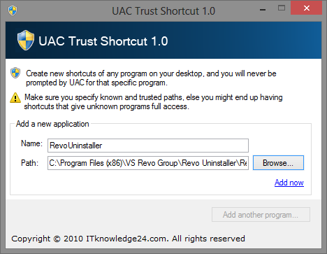 Stop Annoying UAC Prompts - How To Create A User Account Control Whitelist [Windows] UAC Trust Shortcut