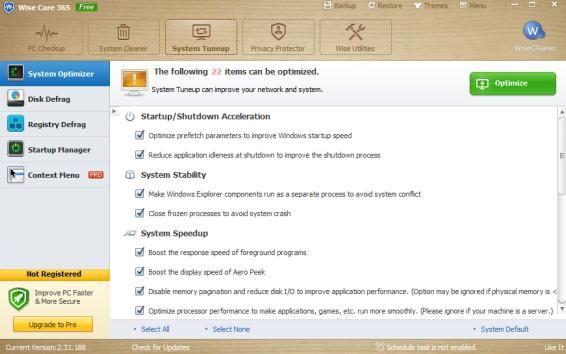 optimize windows system performance