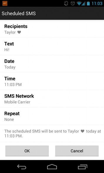 sms scheduling android