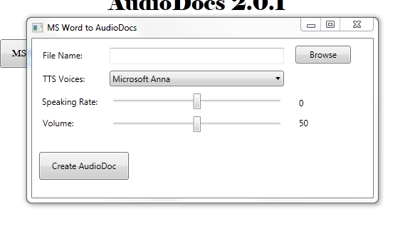 convert a word document to audio