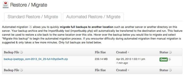 3 Plugins for Easily Migrating a WordPress Site, Tried & Tested bb backups list