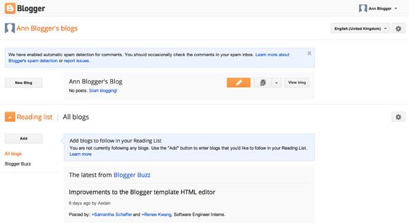 Blogger vs. WordPress.com: A Complete Comparison blogger ui1