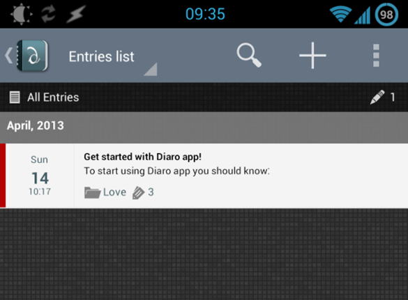 diaro for android
