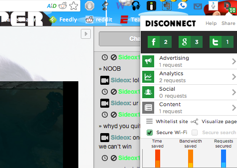disconnect1   Disconnect 2: Make The Web A Safer, Faster Place [Chrome & Firefox]