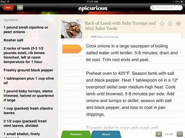 ipad cooking apps
