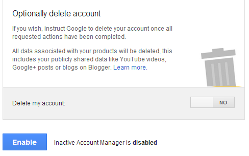google inactive account manager