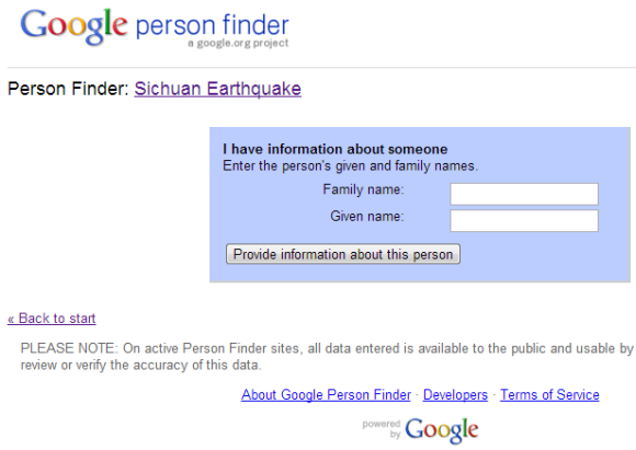 how to use google person finder to locate loved ones after a disaster