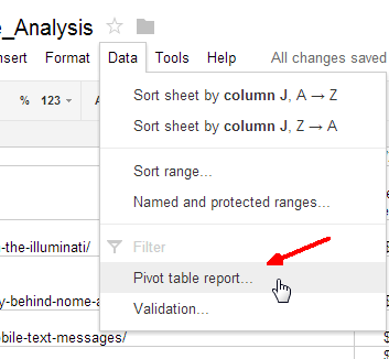 google spreadsheet report editor