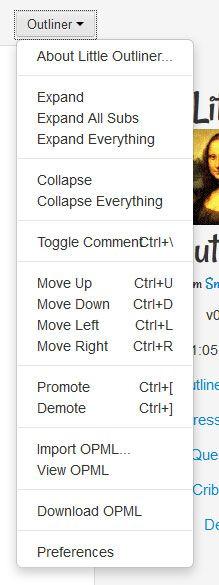 little outliner1   Little Outliner: Create & Download Outlines In OPML Format