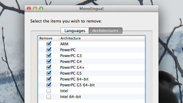 remove mac languages
