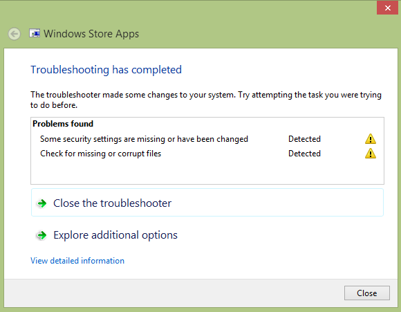 Metro/Modern Apps Unstable? Try These Tricks muo w8appissues troubleshooter
