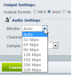 Apowersoft Free Online Audio Converter: Convert Local Media To Various Audio Formats output