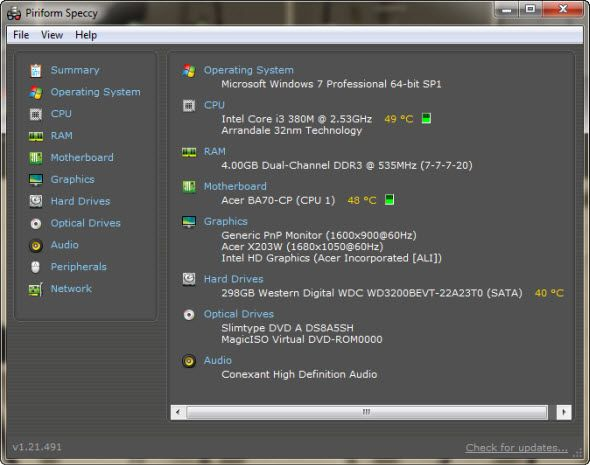 How to Test Your PC for Failing Hardware piriform speccy
