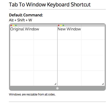 tab to window keyboard shortcut