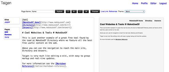 static html page creator