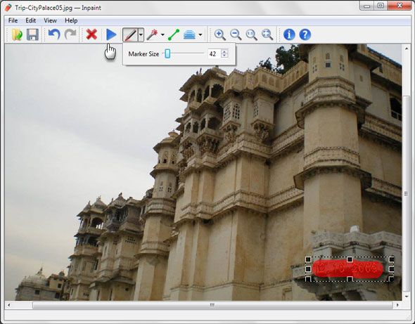 remove timestamps from digital photos