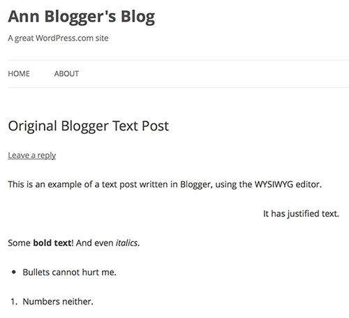Blogger To WordPress, WordPress To Blogger - Switching Blogs Tested wp x text