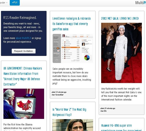 13   MultiPlx: Visually Appealing & Responsive RSS Reader