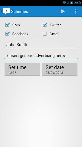send scheduled messages
