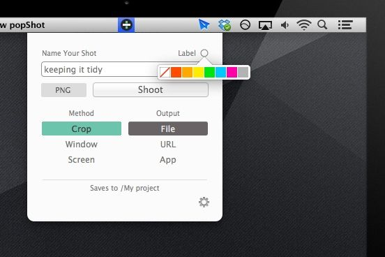 screenshot menu bar mac