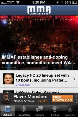 mma for iphone review