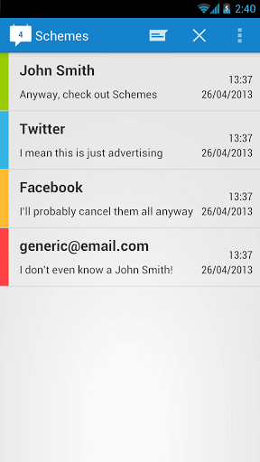 Schemes: Send Scheduled Messages Via SMS, Facebook, Twitter Or Gmail [Android] 22