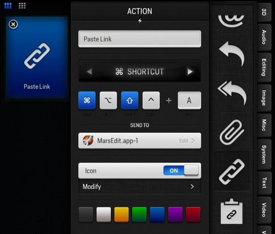 actions for ipad