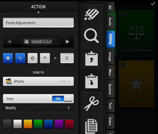 Control Any Application On Your Mac Or PC Using Actions for iPad [iOS] Actions edit button