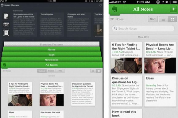 evernote app iphone